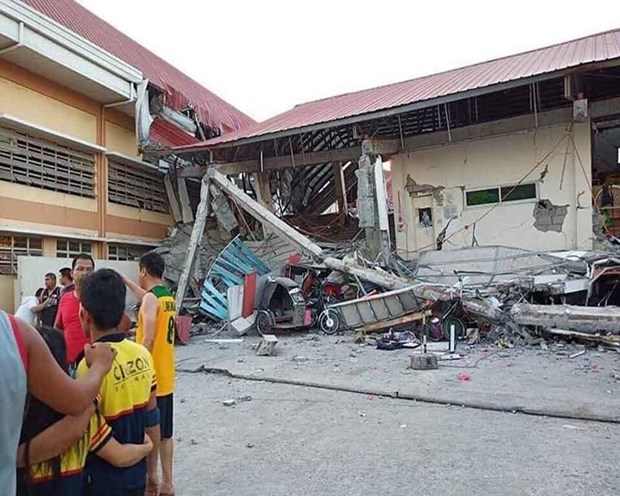 A workshop is damaged after a quake in the Philippines (Illustrative image. Source: The Pioneer)