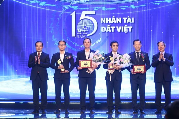 Some of the winners of the Vietnamese Talent Awards 2019 (Photo: VNA)